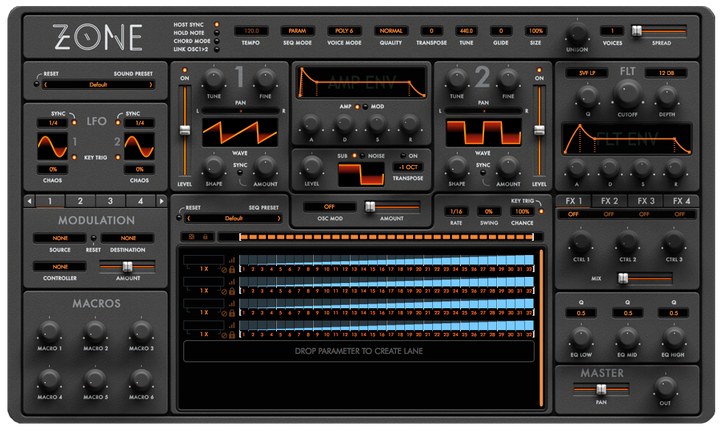 Zone Synthesiser Version 1.2